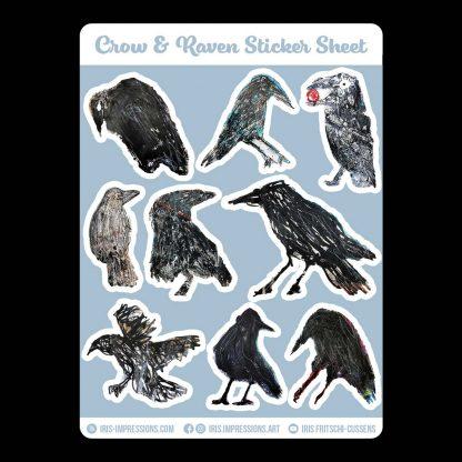Crow Raven Sticker Sheet