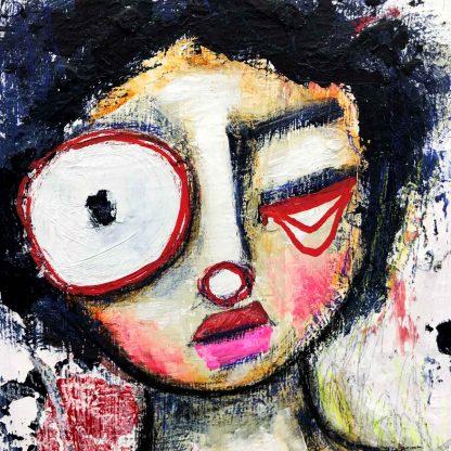 Whimsical folk art portrait