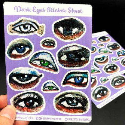 dark eyes sticker sheet