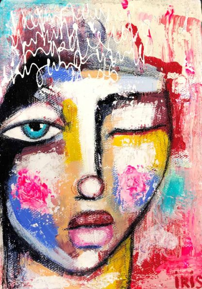 Colourful whimsical portrait