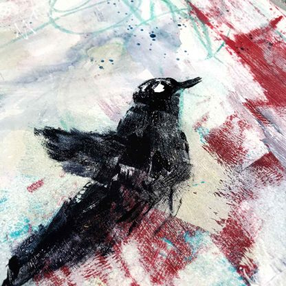 Black bird paiting
