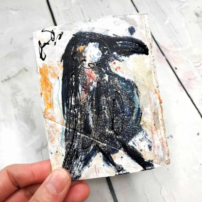 Journal with grungy crow