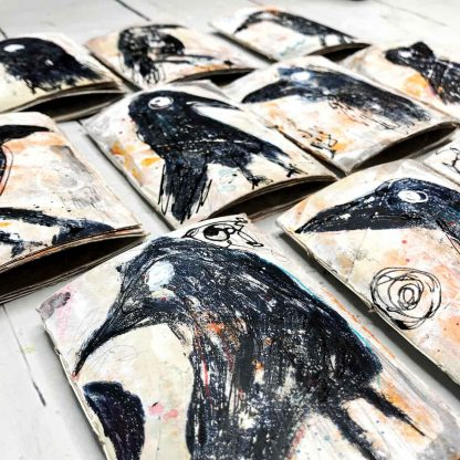 Journals with grungy crows